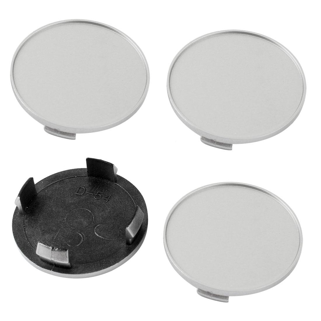 4 Pcs Gray Plastic 4 Lug Wheel Covers Caps 60mm Dia for Auto Car