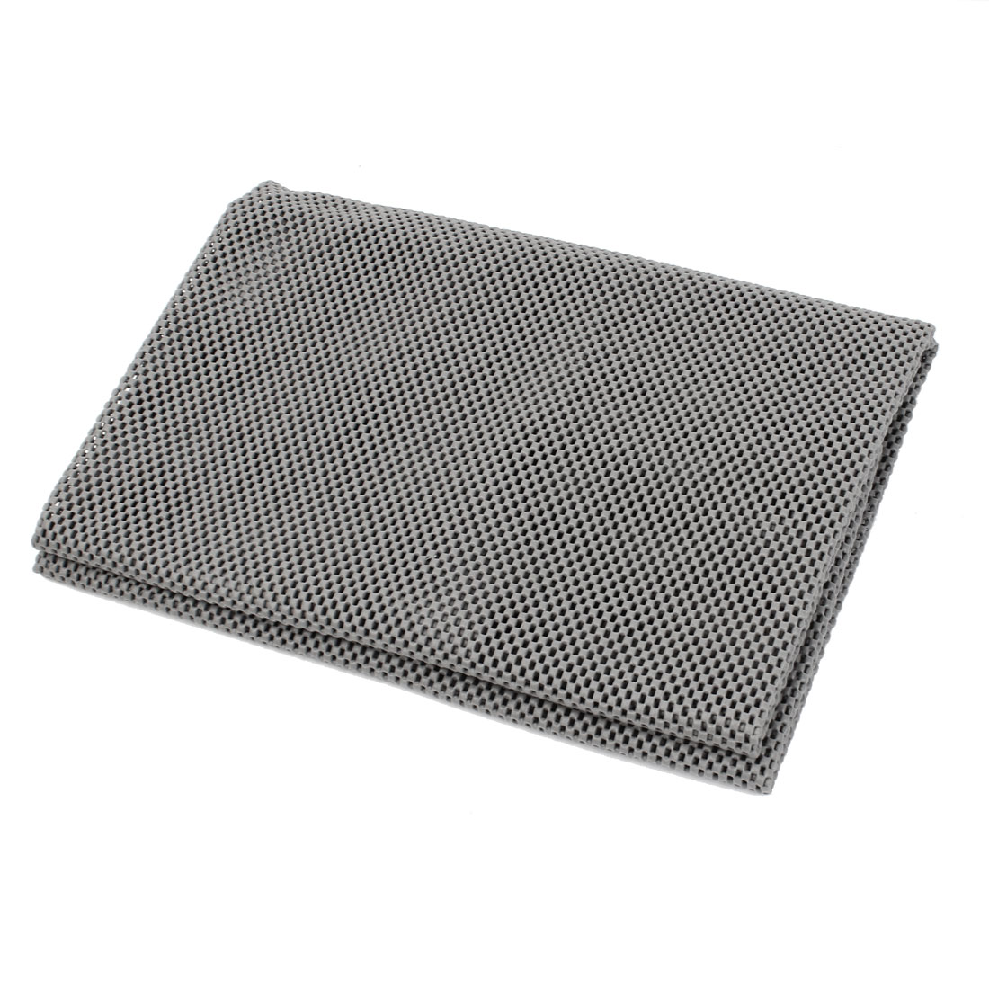 80cm x 100cm Gray Foam Embossed Grid Toolbox Case Non Slip Mat Pad Cusion for Car