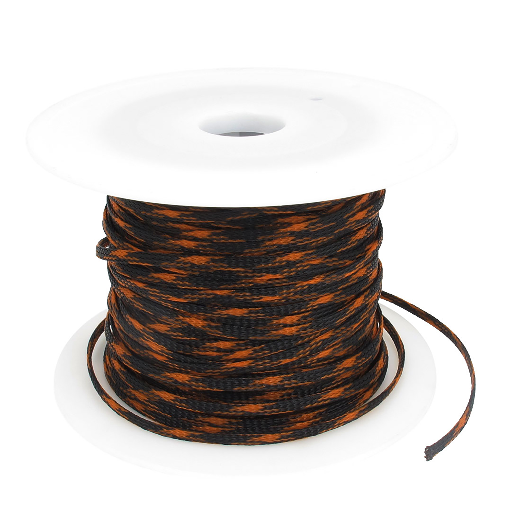 5mm Orange Black Expandable Braid Dense Cable Sleeve 100m for Car Audio