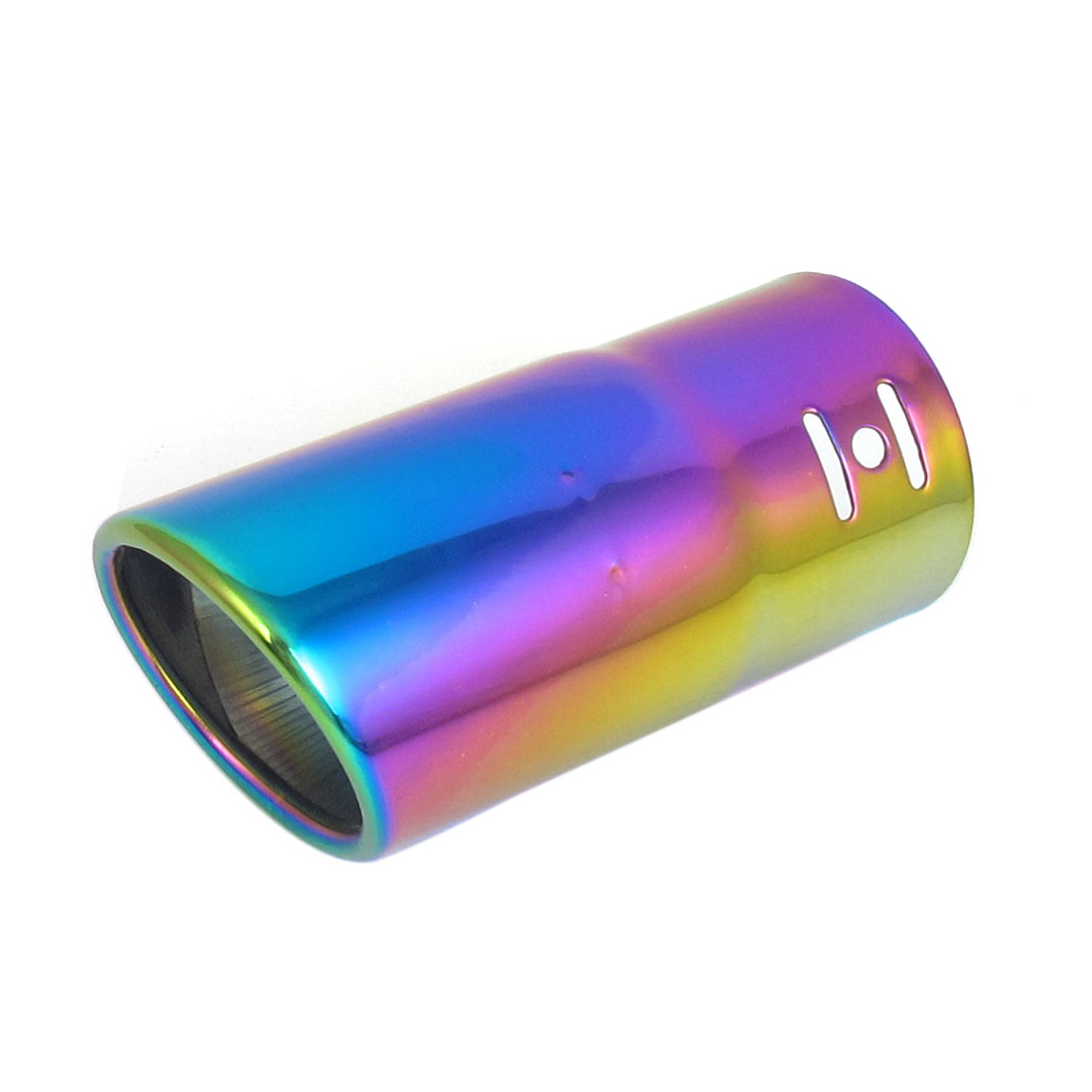 60mm Inlet Dia Colorful Stainless Steel Exhaust Muffler Tip 135mm Long for Chaalis