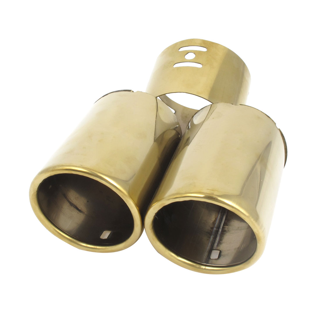 60mm Inlet Dia Dual Outlet Exhaust Tips Muffler Tipe Tail Tip for ELANTRA