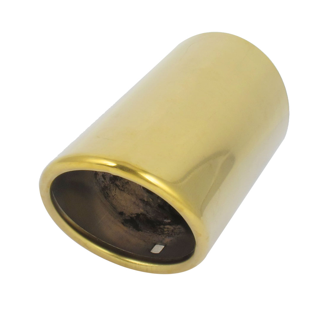 Car Gold Tone Stainless Steel Oval Rolled Exhaust Muffler Tip Pipe for Sagitar
