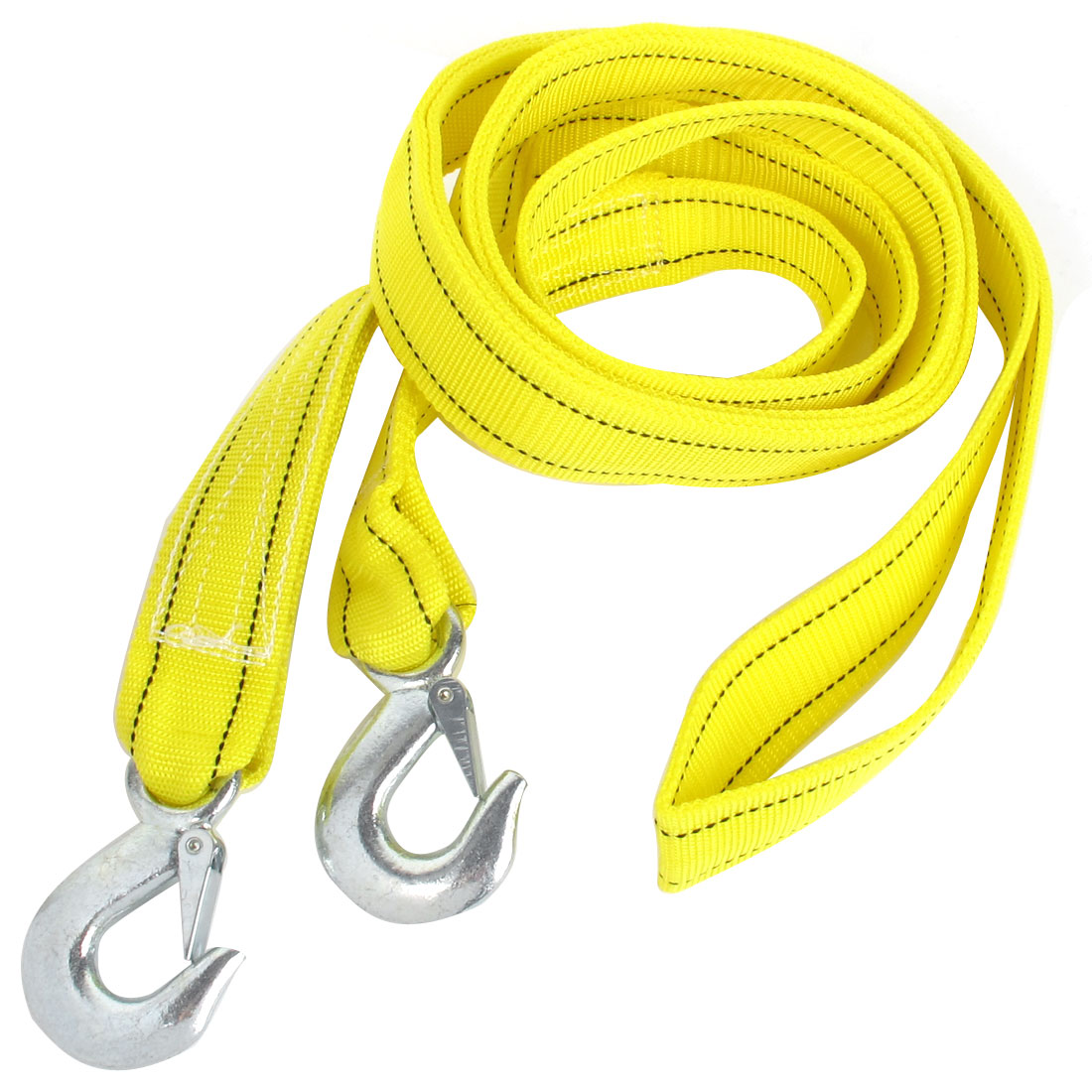Truck Yellow Nylon 5 Tons Capacity Emergency Nylon Towing Strap 5M