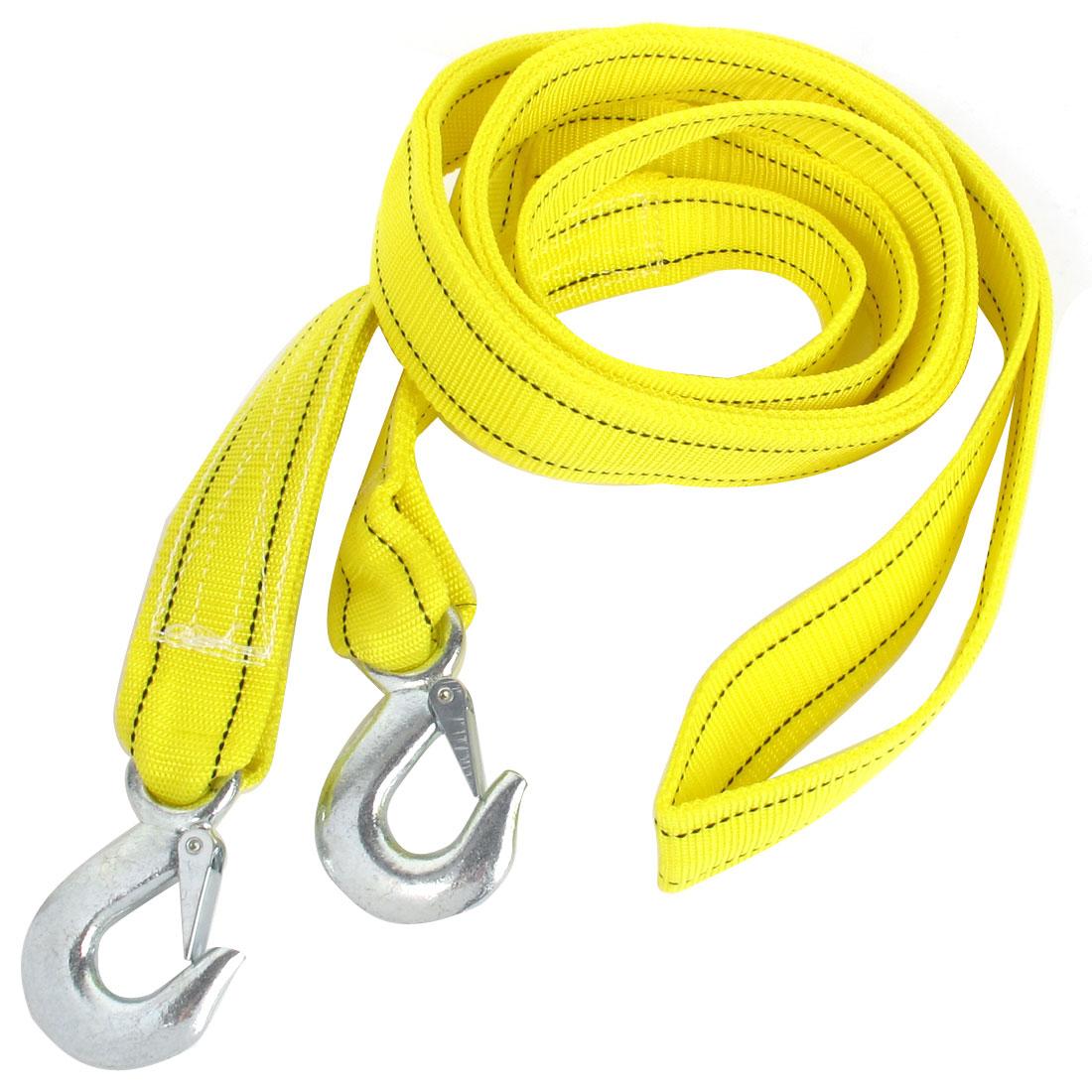 Truck Yellow Nylon 5 Tons Capacity Emergency Nylon Towing Strap 5M