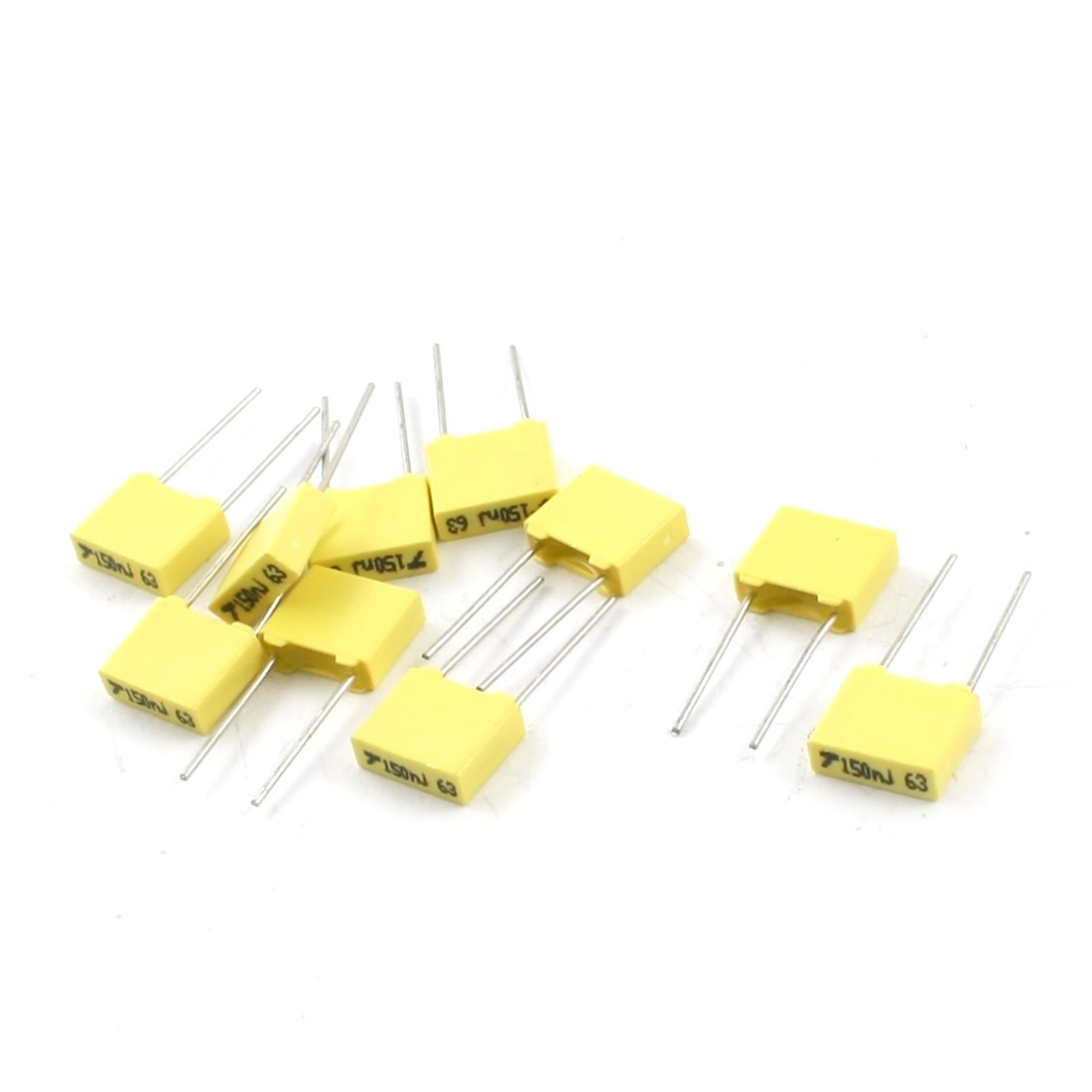 10pcs Radial Lead Mylar Polyester Film Capacitors 63V 150nF