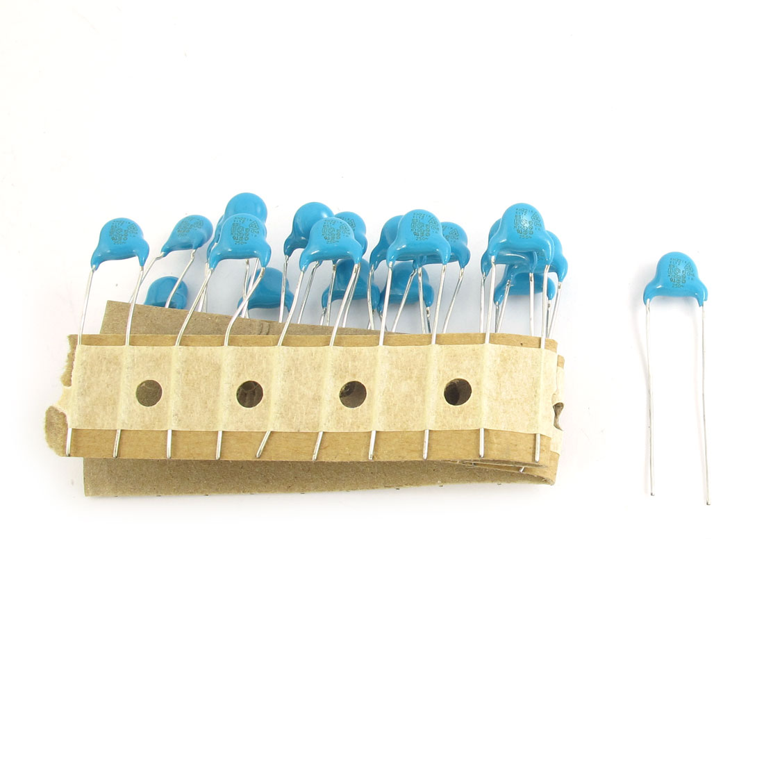 20 Pcs AC 250V 220pF Radial Lead Through Hole DIP High Voltage Ceramic Capacitor Blue