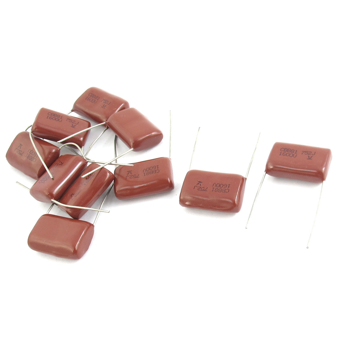 1600V 7500pf Radial Leading Type Through Hole Mount Metallized Polypropylene Film Capacitors 10Pcs