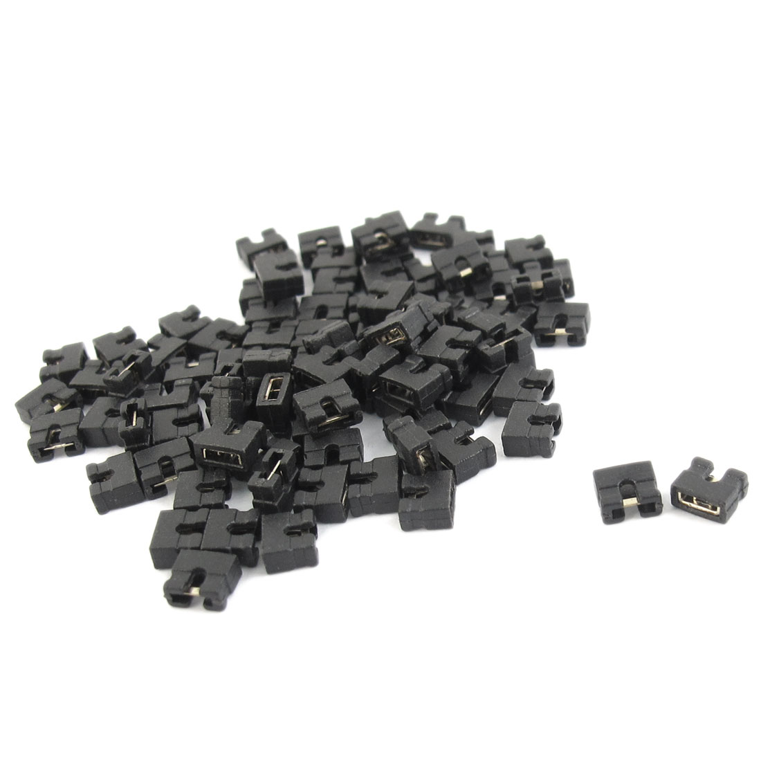 90Pcs Motherboard PCB Plugs Short Circuit Connection Jumper Caps 2.54mm