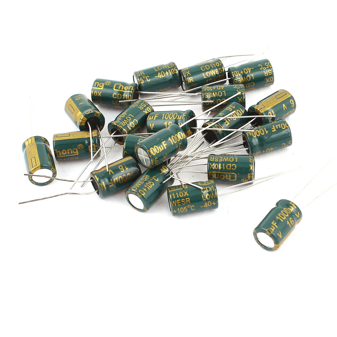 20PCS 16V 1000uf 8x13mm Through Hole Radial Lead Aluminium Electrolytic Capacitor