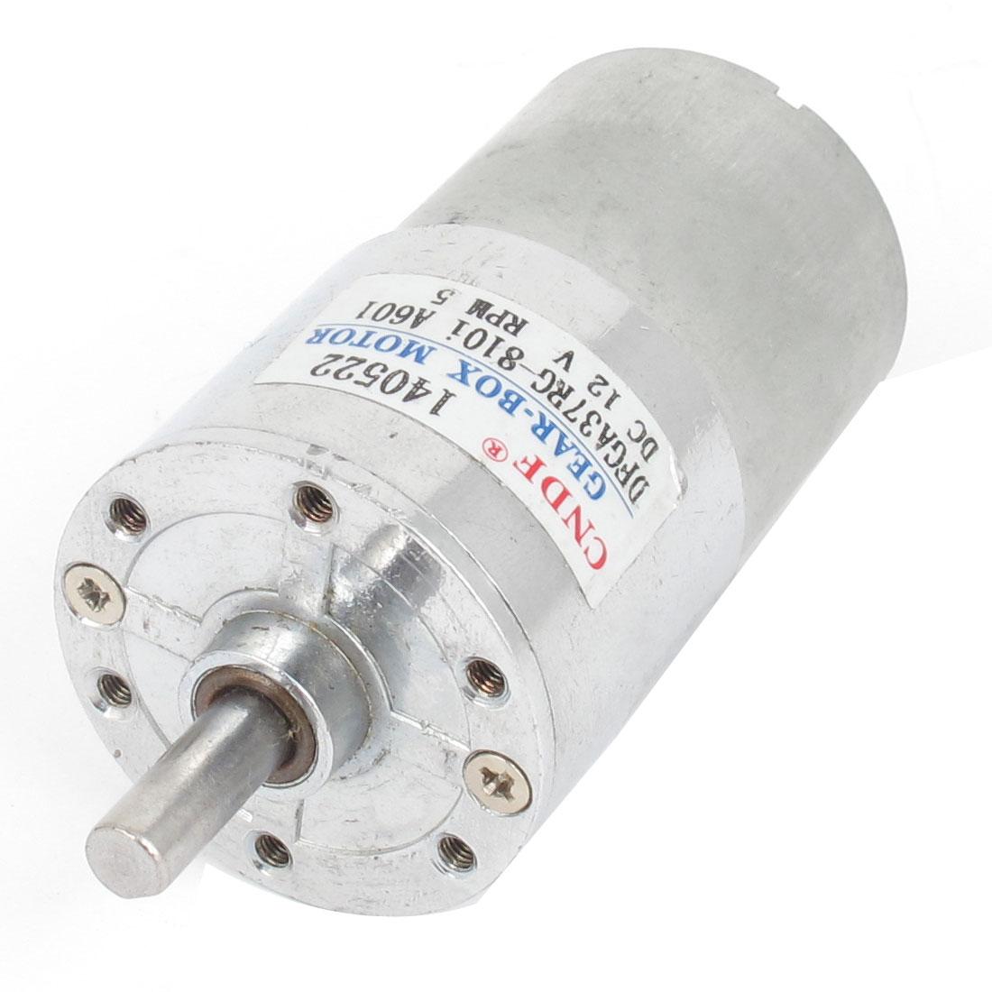 DFGA37RG-80i Cylinder Shape DC 12V Speed 5 RPM Geared Motor