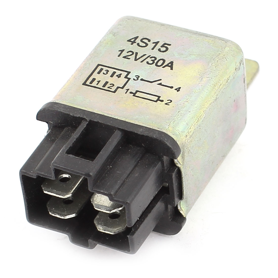 DC 12V 30A 1NO SPST 6mm Mounting Hole 4Pins Socket Automotive Truck Car Relay