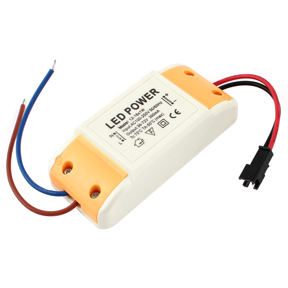 AC 100-250V 300mA Driver Power Supply Converter 12-18 x 1W LED Light