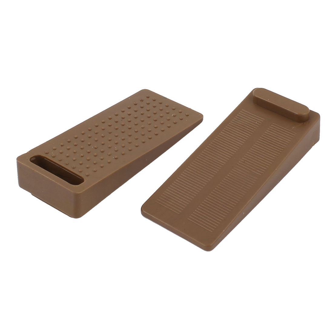 2pcs Coffee Color Rubber Nonslip Door Wedge Stop Stoppers for Home