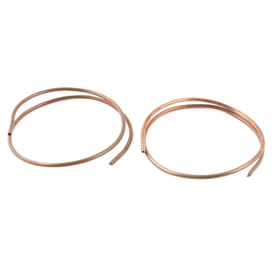 2Pcs Copper Tone Refrigerator Refrigeration Tubing Coil 3.0mm Dia 40cm Length