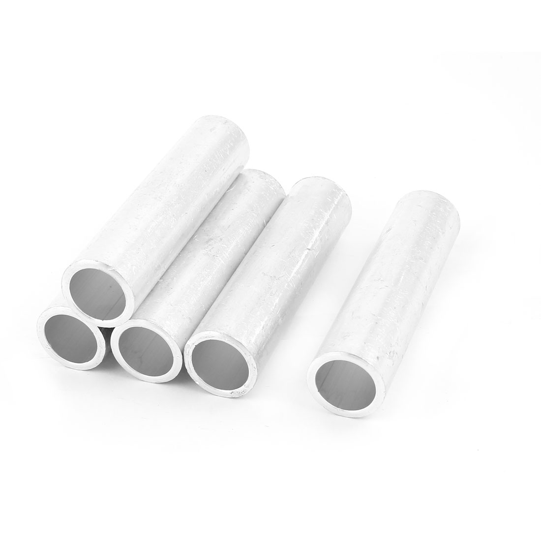 5Pcs Aluminium Tubular Inline Straight Connector Joints 18mm Inner Dia 96mm Long