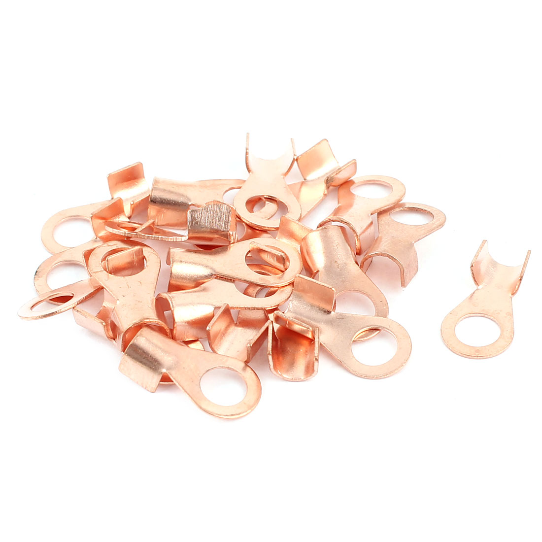 20Pcs 5A Open Copper Battery Crimp Terminal Cable Wire Lugs 5mm Ring for #10 Stud