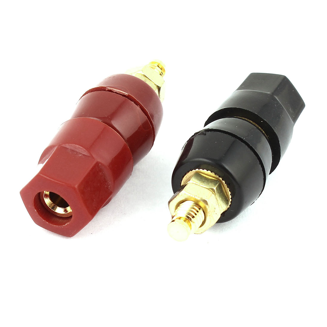 2 Pcs Red Black Binding Post Audio Speaker Terminal for 4mm Banana Connector