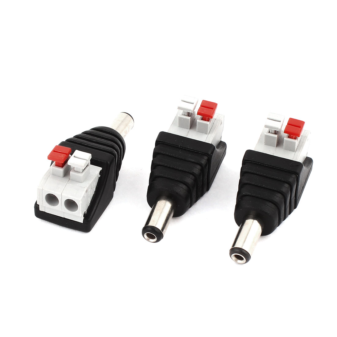 3 Pcs 5.5x2.1mm DC Power Male Spring Terminal Adapter Connector for CCTV Camera