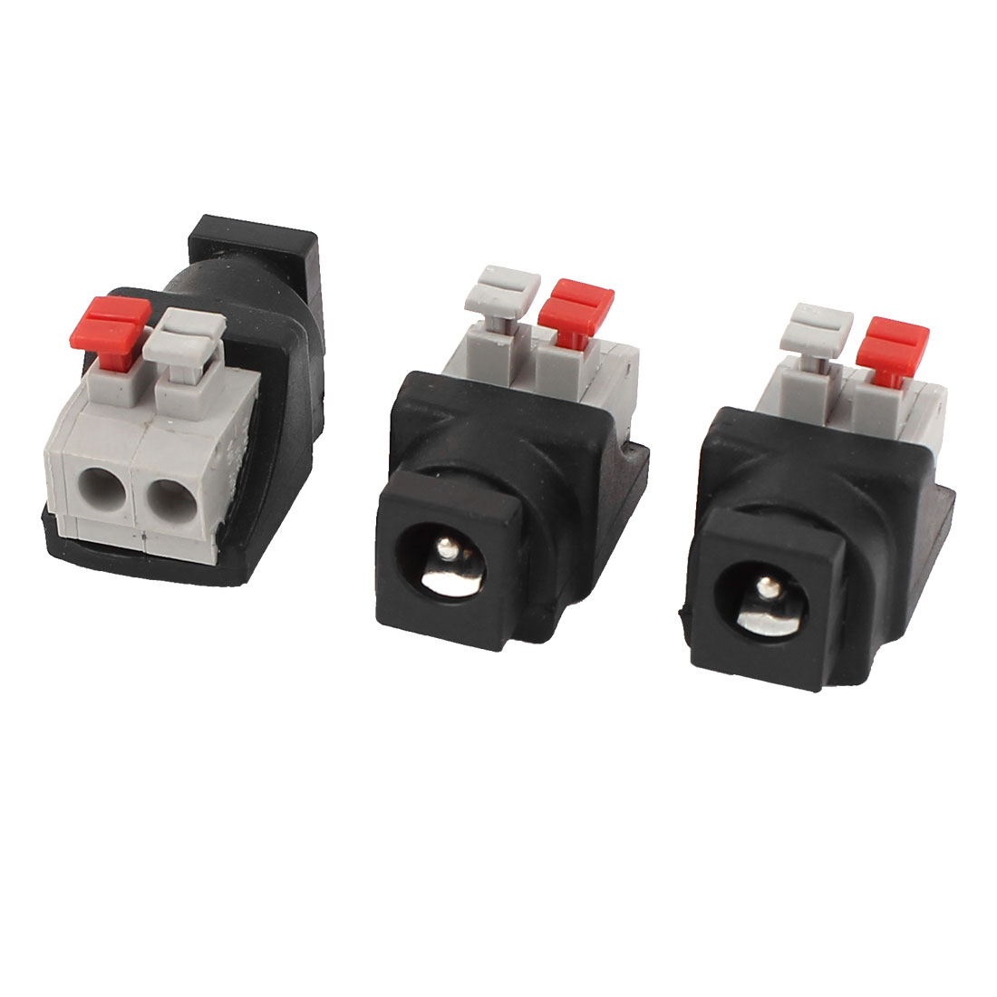 3 Pcs 5.5x2.1mm DC Power Female Spring Terminal Adapter Connector for CCTV Camera