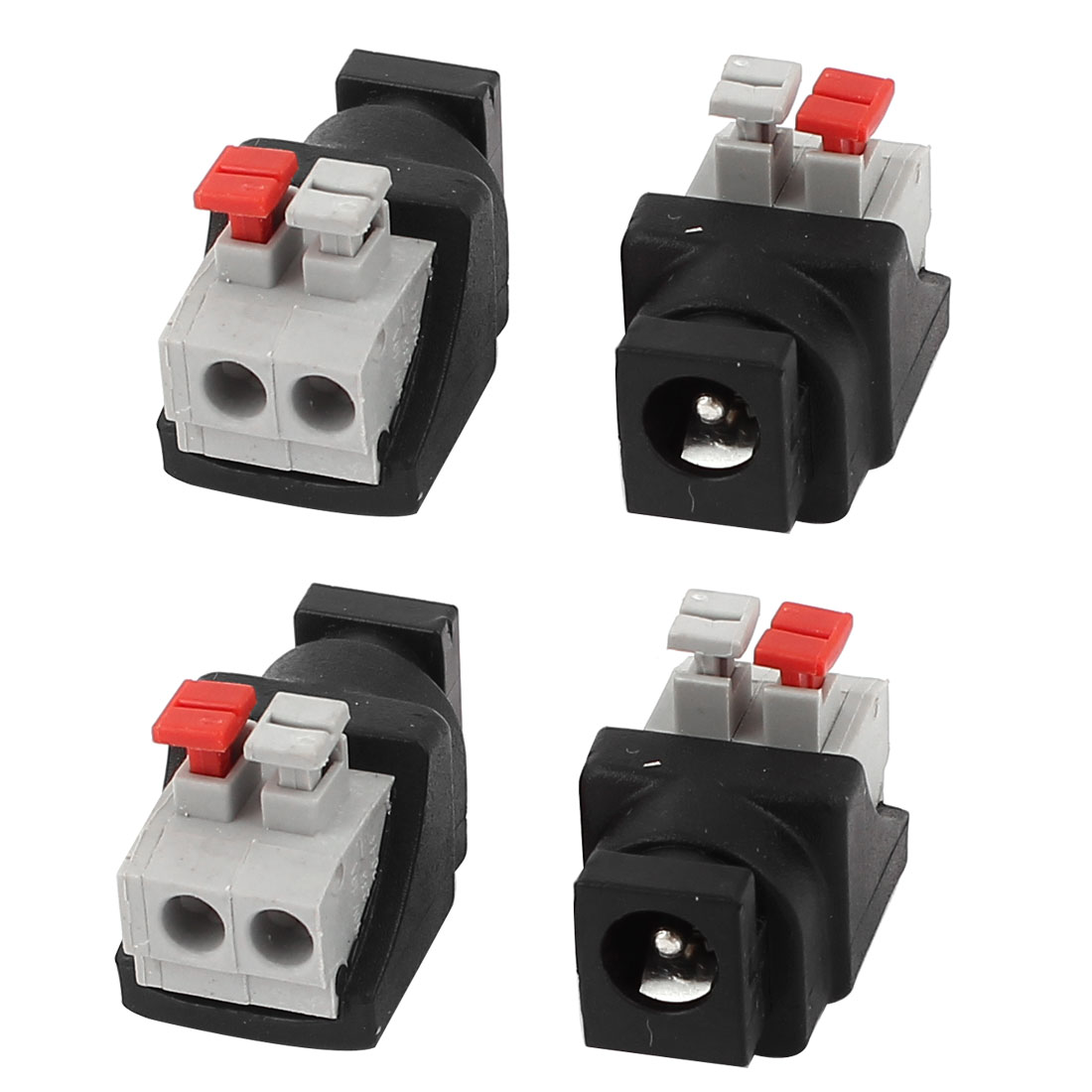 4 Pcs 5.5x2.1mm DC Power Female Spring Terminal Adapter Connector for CCTV Camera