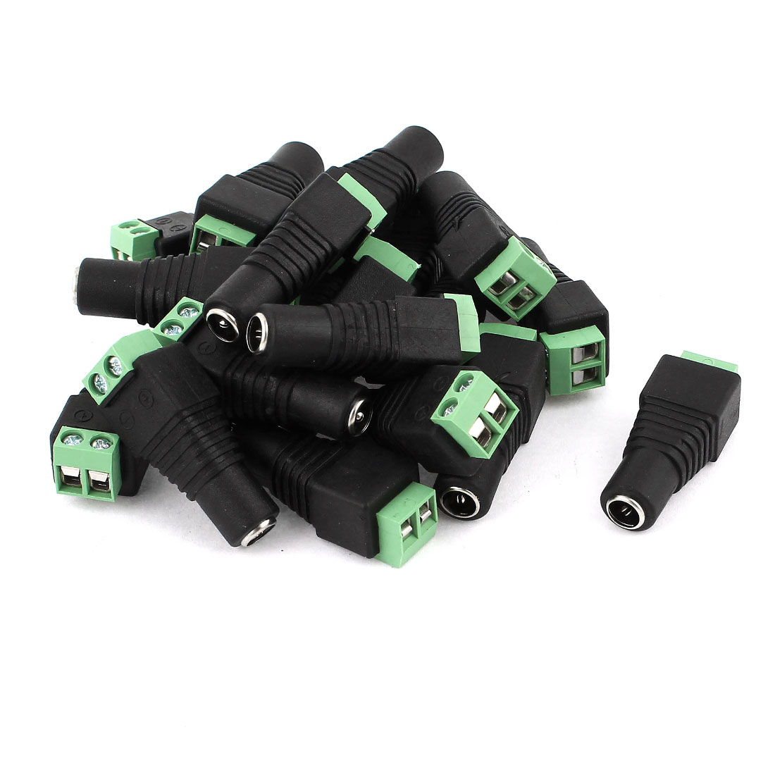 20 Pcs 5.5x2.1mm DC Power Female Screw Terminal Adapter Connector for CCTV Camera