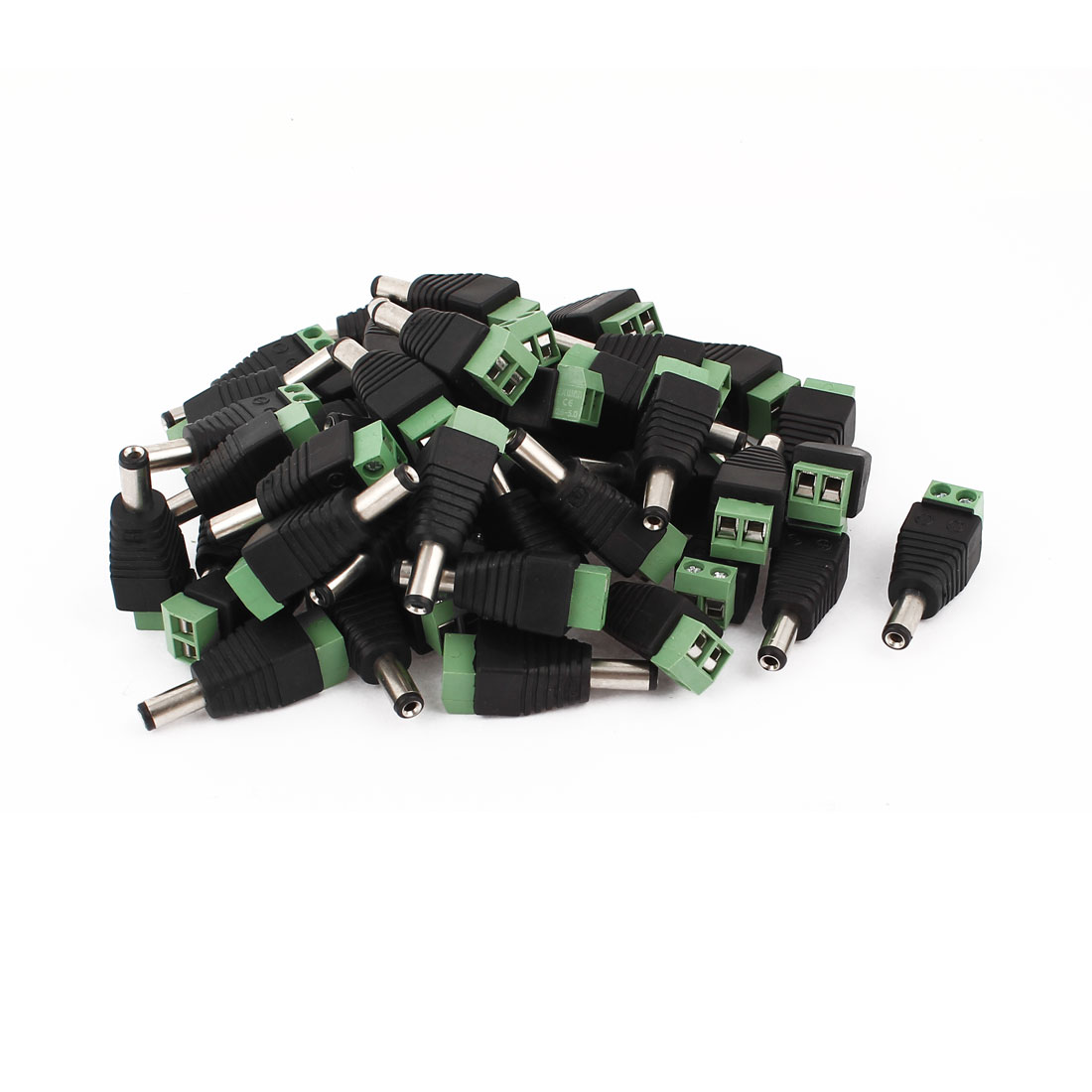 50 Pcs 5.5x2.1mm DC Power Male Screw Terminal Adapter Connector for CCTV Camera
