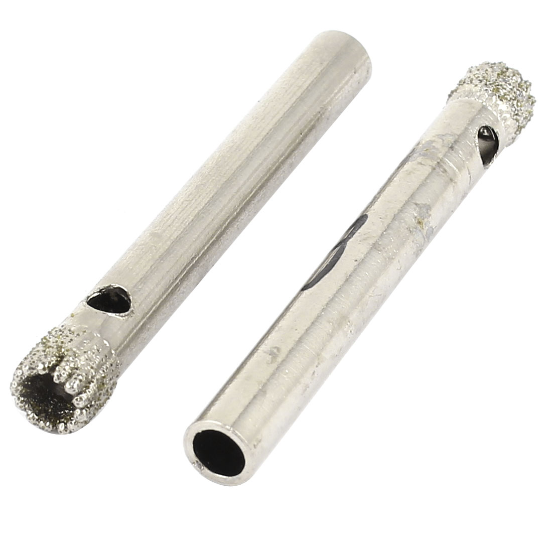 2 Pcs Diamond Coated Hole Saw Ceramic Glass Marble Tile Cutter 6mm Dia