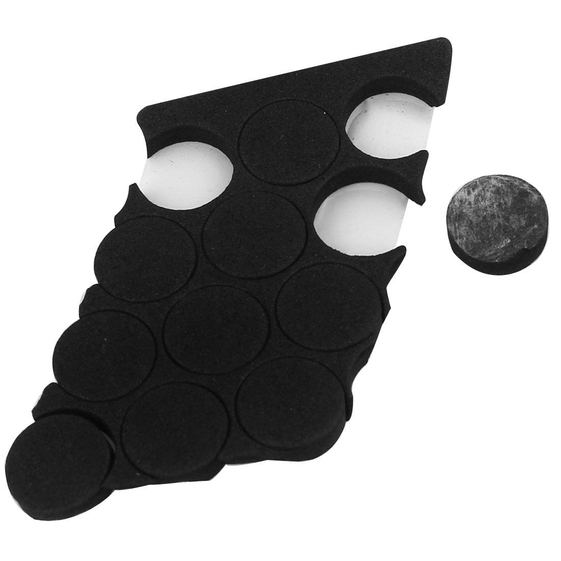 10 Pcs Black EVA Furniture Foot Protecter Pad 20x5mm