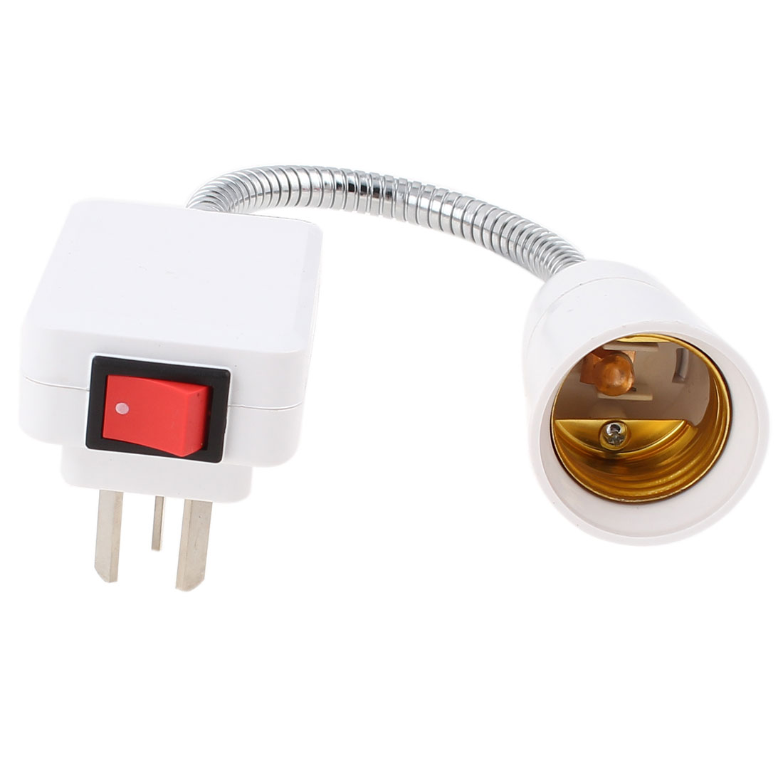 AU Plug AC 250V 13A 14cm Flexible Neck E27 Adapter Socket Light Lamp Bulb Holder Switch