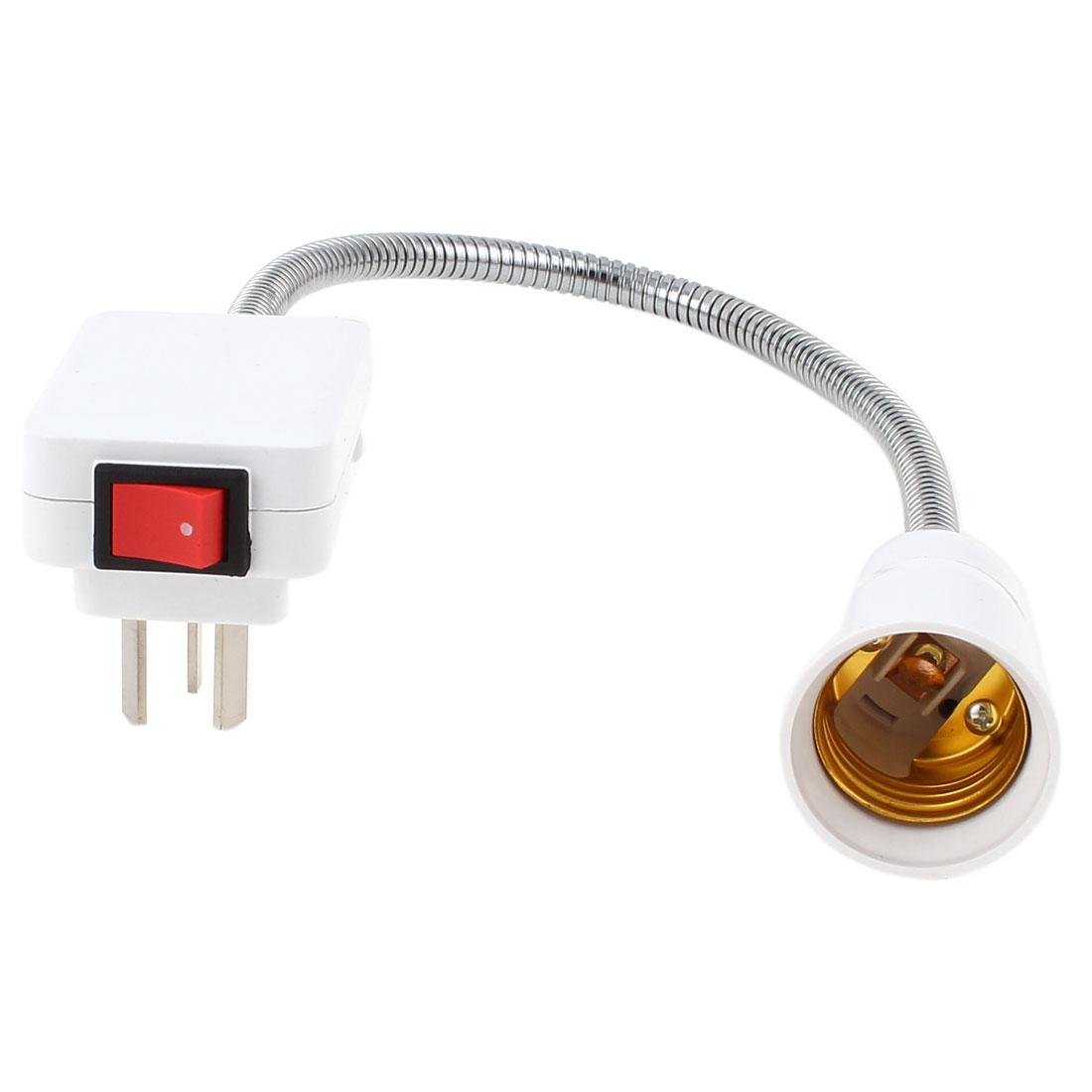 AU Plug AC 250V 13A 29cm Flexible Neck E27 Adapter Socket Light Lamp Bulb Holder Switch