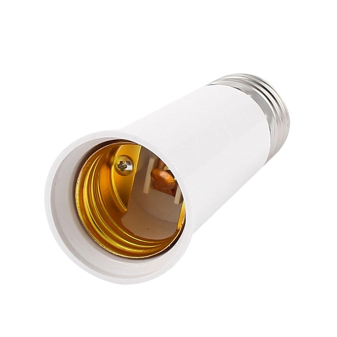 E27 to E27 Light Lamp Bulb Extender Socket Adaptor Holder White