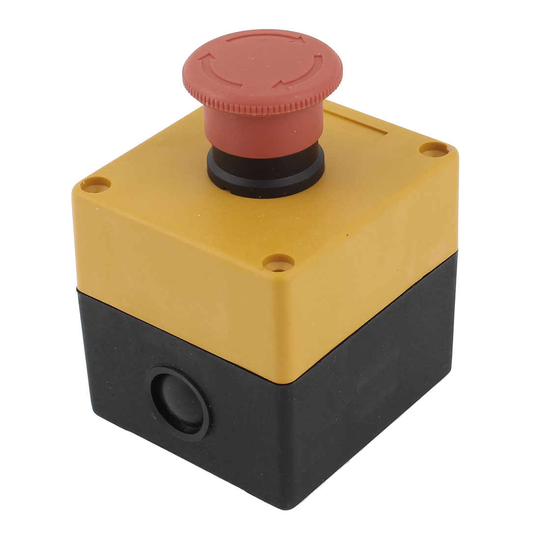 Emergency Stop Push Button Switch Station Plastic Control Box NC SPST 240V 3A