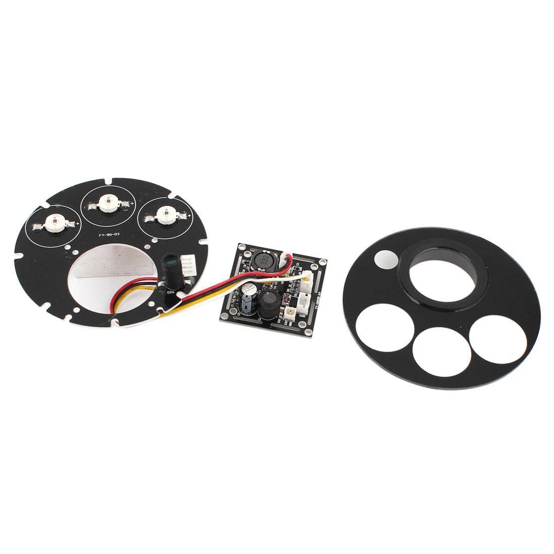 CCTV Security Camera 42mil 3 Array Red 3 LED IR Illuminator Bulb Board 76mmx76mm