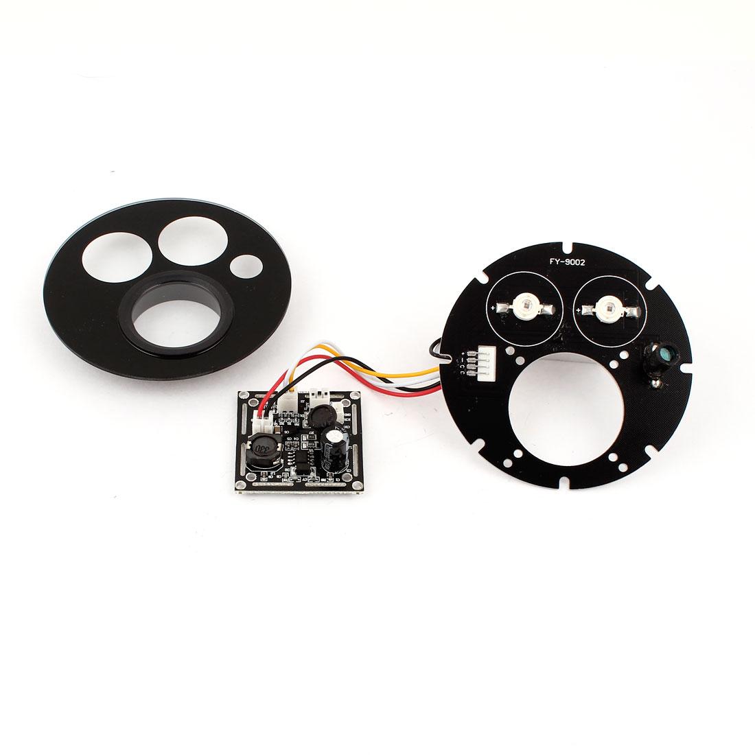 CCTV Security Camera 42mil 2 Array Red 2 LED IR Illuminator Bulb Board 76mmx76mm