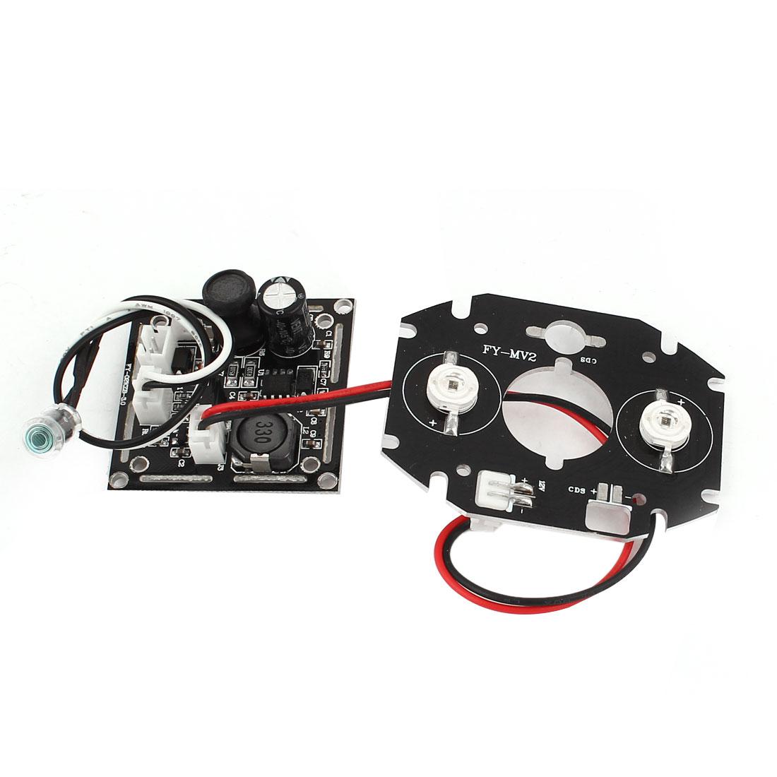 54mmx43mm 42mil 2 Array 2 LED IR Illuminator Bulb Board for CCTV Security Camera