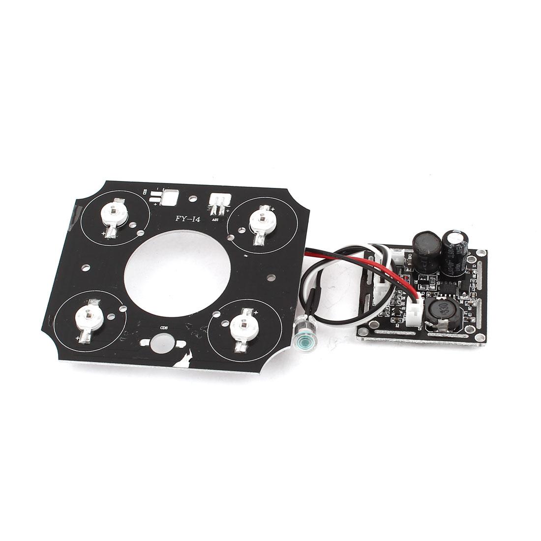 42mil 4 Array LEDs IR Illuminator Bulb Lamp Board Plate for CCTV Security Camera