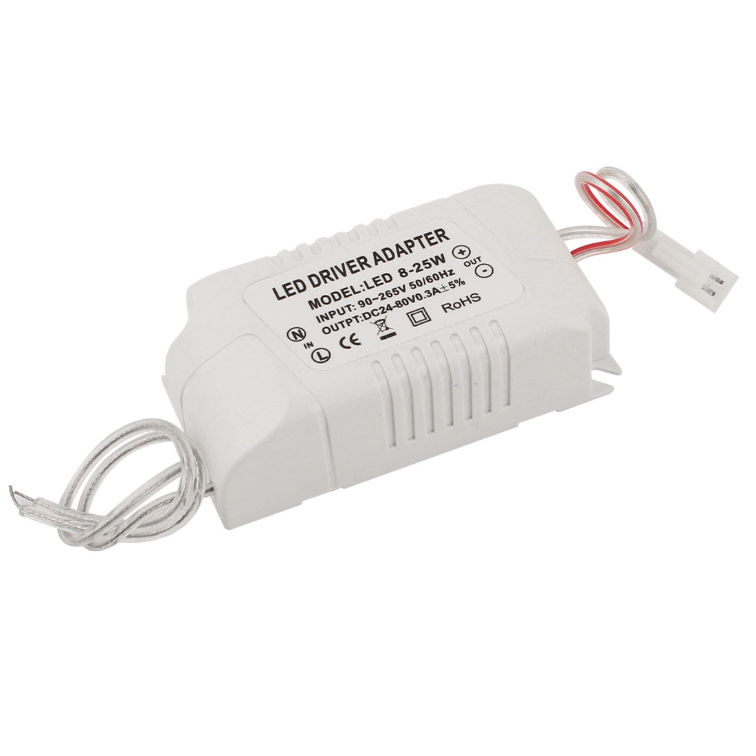 AC 90-265V to DC 24-80V 0.3A 8-25W Power Supply Transformer Driver Adapter for LED Light