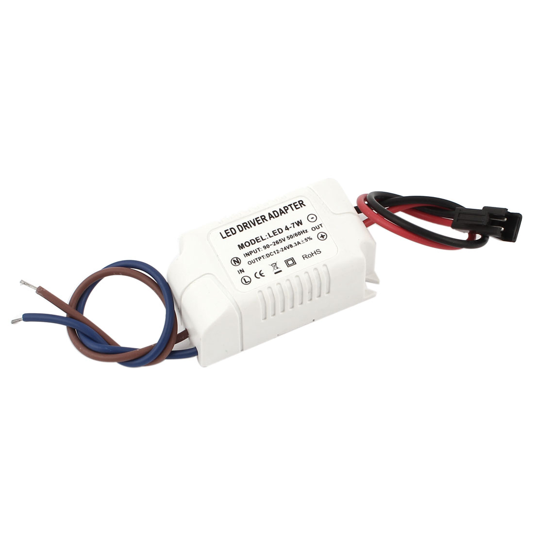 AC 90-265V to DC 12-24V 0.3A 4-7W Power Supply Transformer Driver Adapter for LED Light