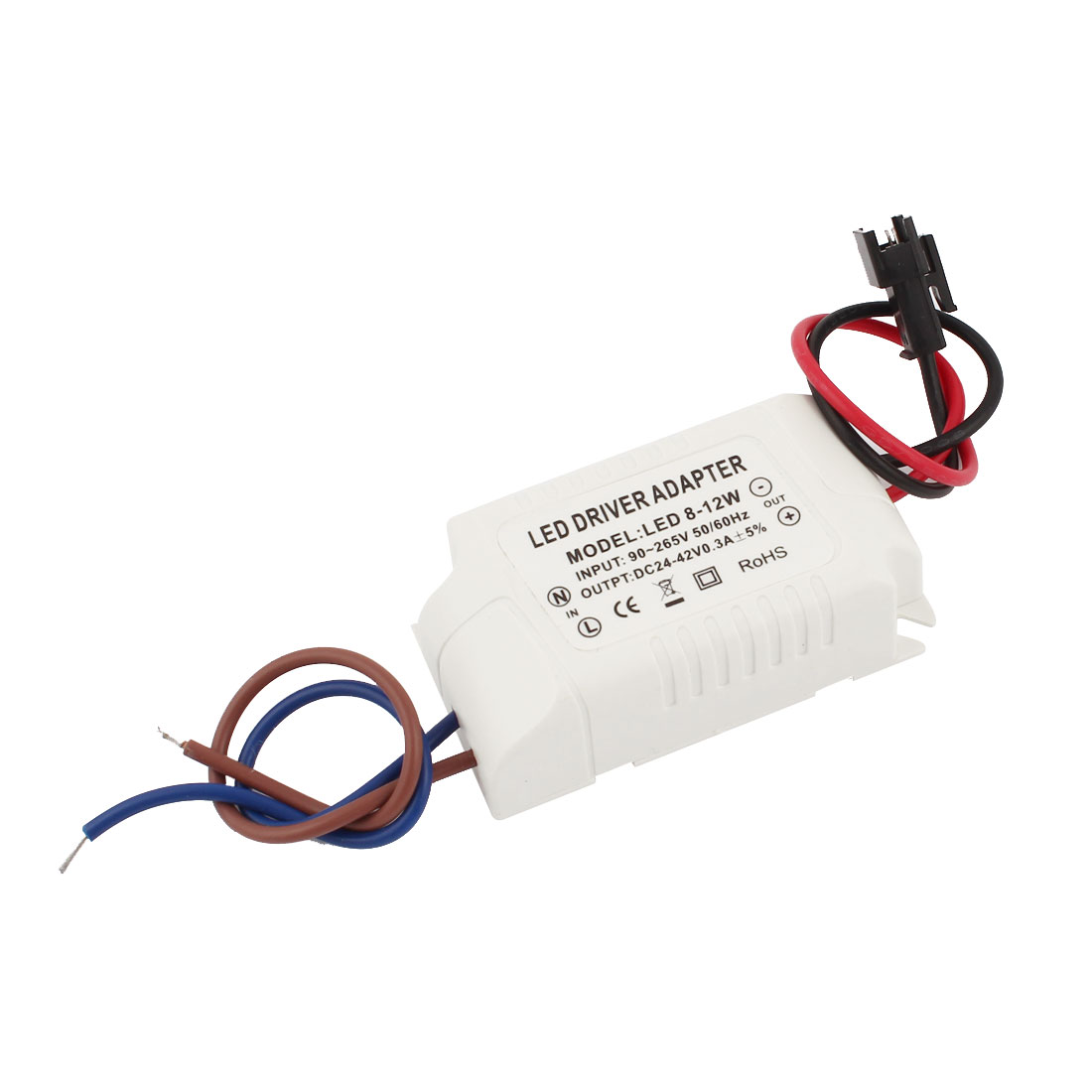 AC 90-265V to DC 24-42V 0.3A 8-12x1W Power Supply Transformer Driver Adapter for LED Light