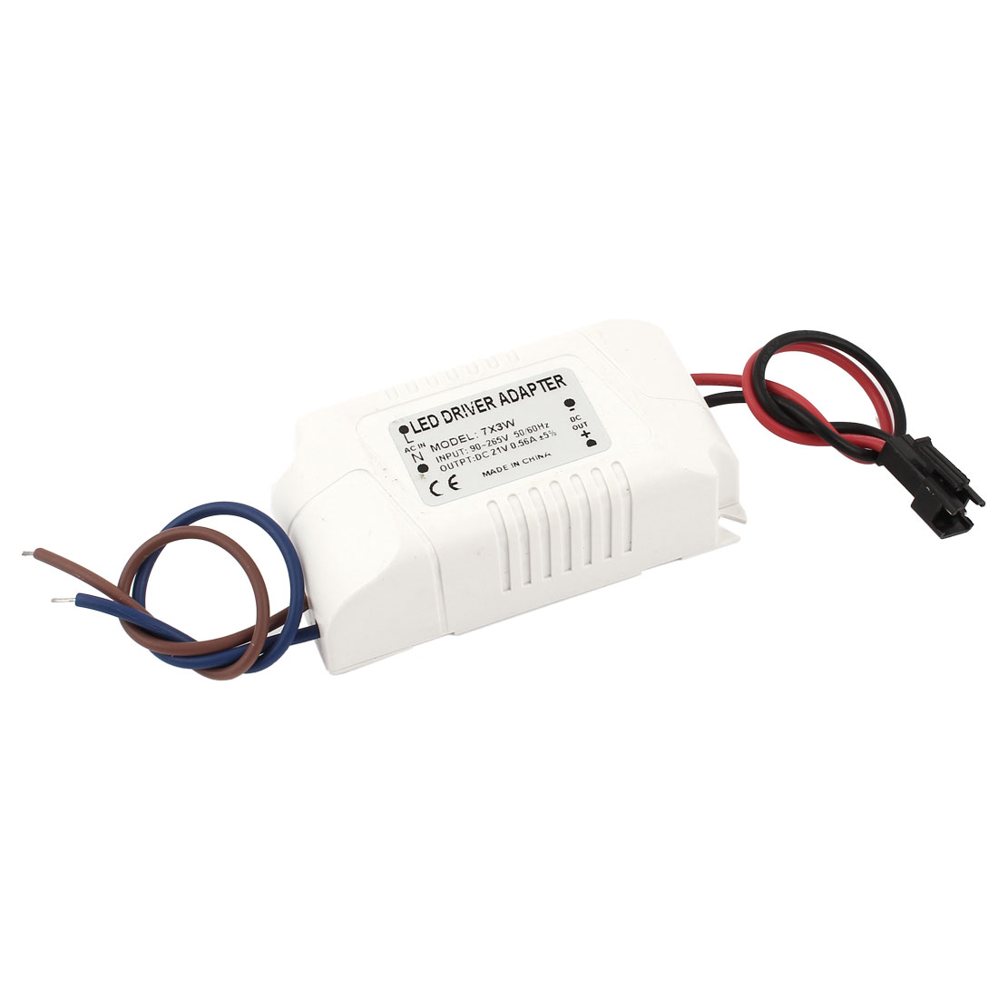 AC 90-265V to DC 21V 0.56A 7x3W Power Supply Transformer Driver Adapter for LED Light