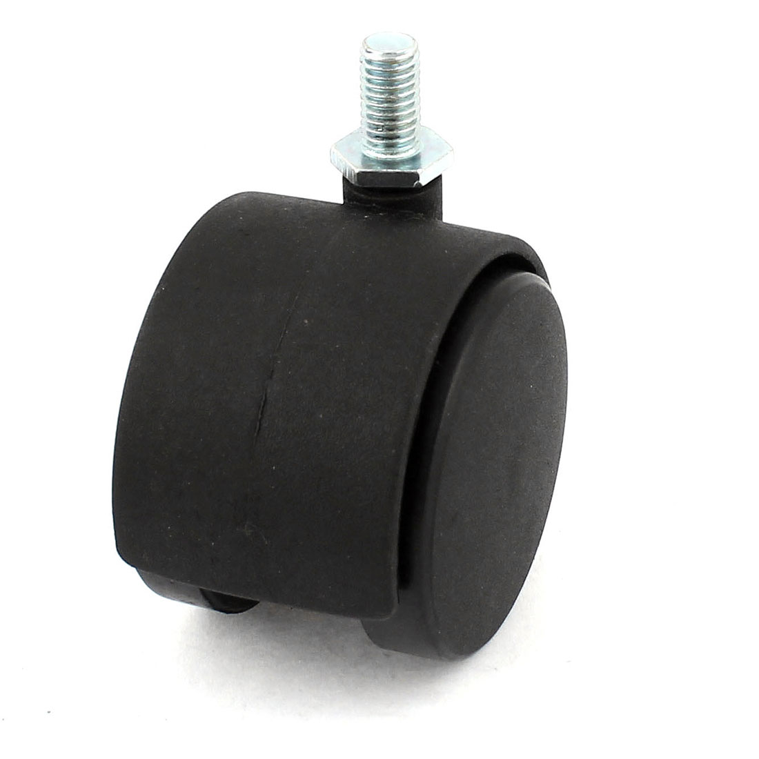 8mm Dia Threaded Stem Connector Twin-wheel Black Chair Trolley Caster