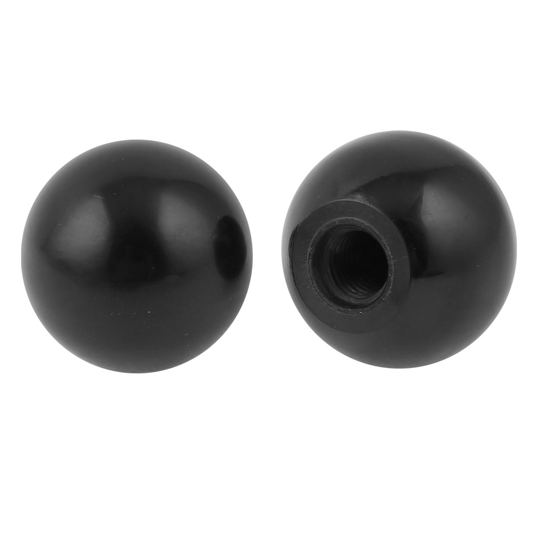 2PCS 37mm Height 40mm Dia M12x33mm Thread Black Plastic Handgrip Ball Knob
