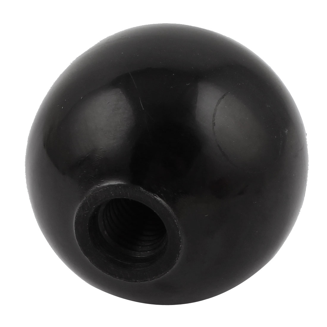 49mm Height 50mm Dia M12x42mm Thread Black Plastic Handgrip Ball Knob