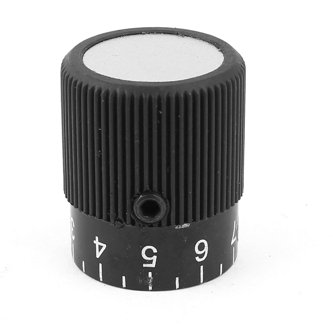 Mechanical 8mm Hole Dia 0-9 Scale 32mm Diameter Knurled Control Knob
