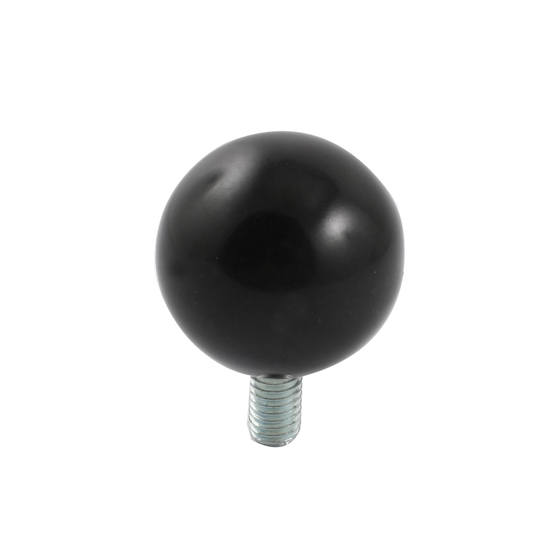 M8x15mm Thread Black Round Plastic 35mm Diameter Ball Lever Knob