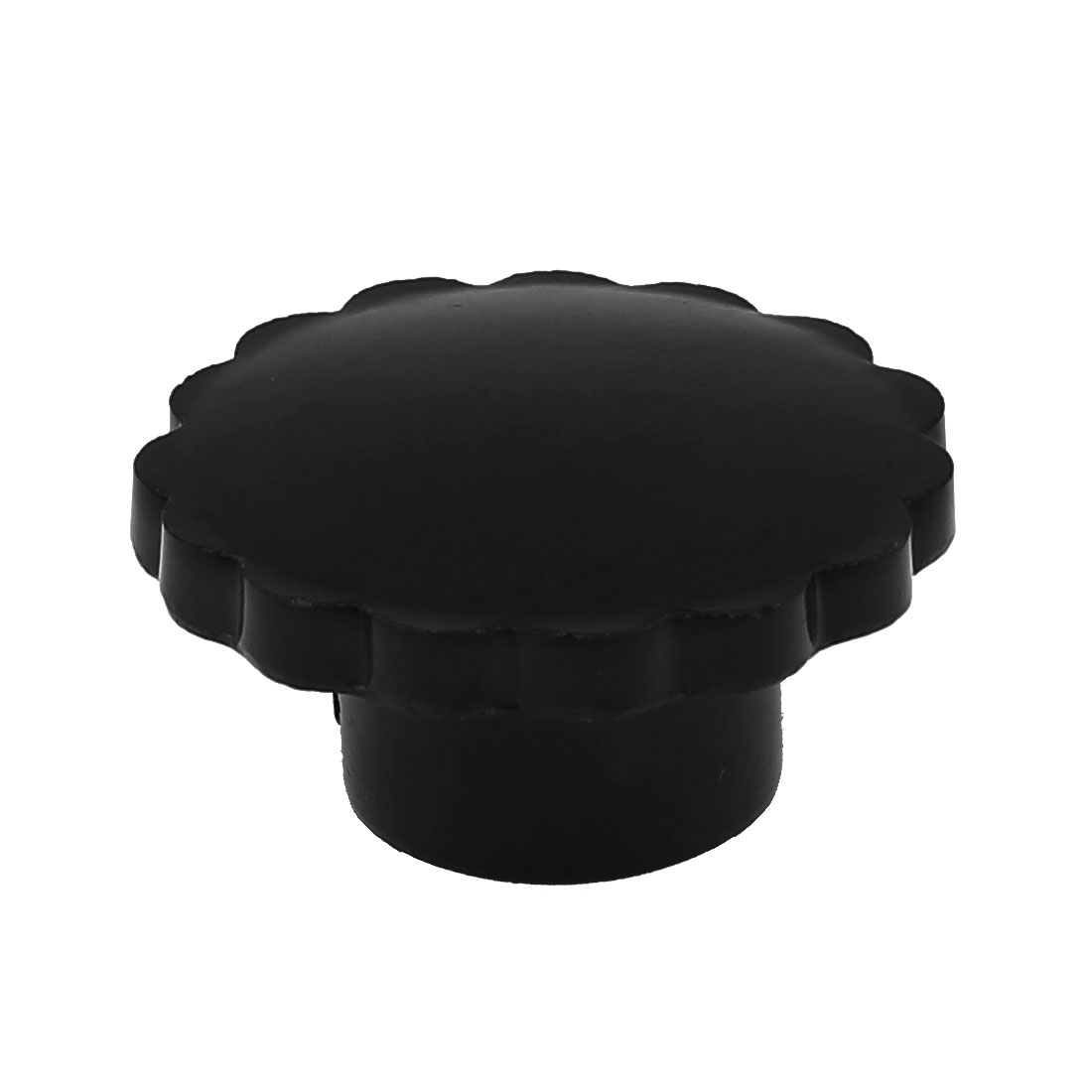 Black Plastic Multiple Lobe Knob 40mm Dia 21mm Height 10mm Hole Diameter
