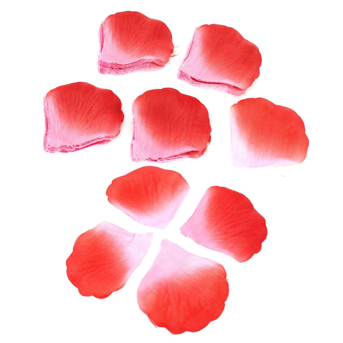 200 Pcs Wedding Bridal Decor Fabric Manmade Rose Petal Red Pink