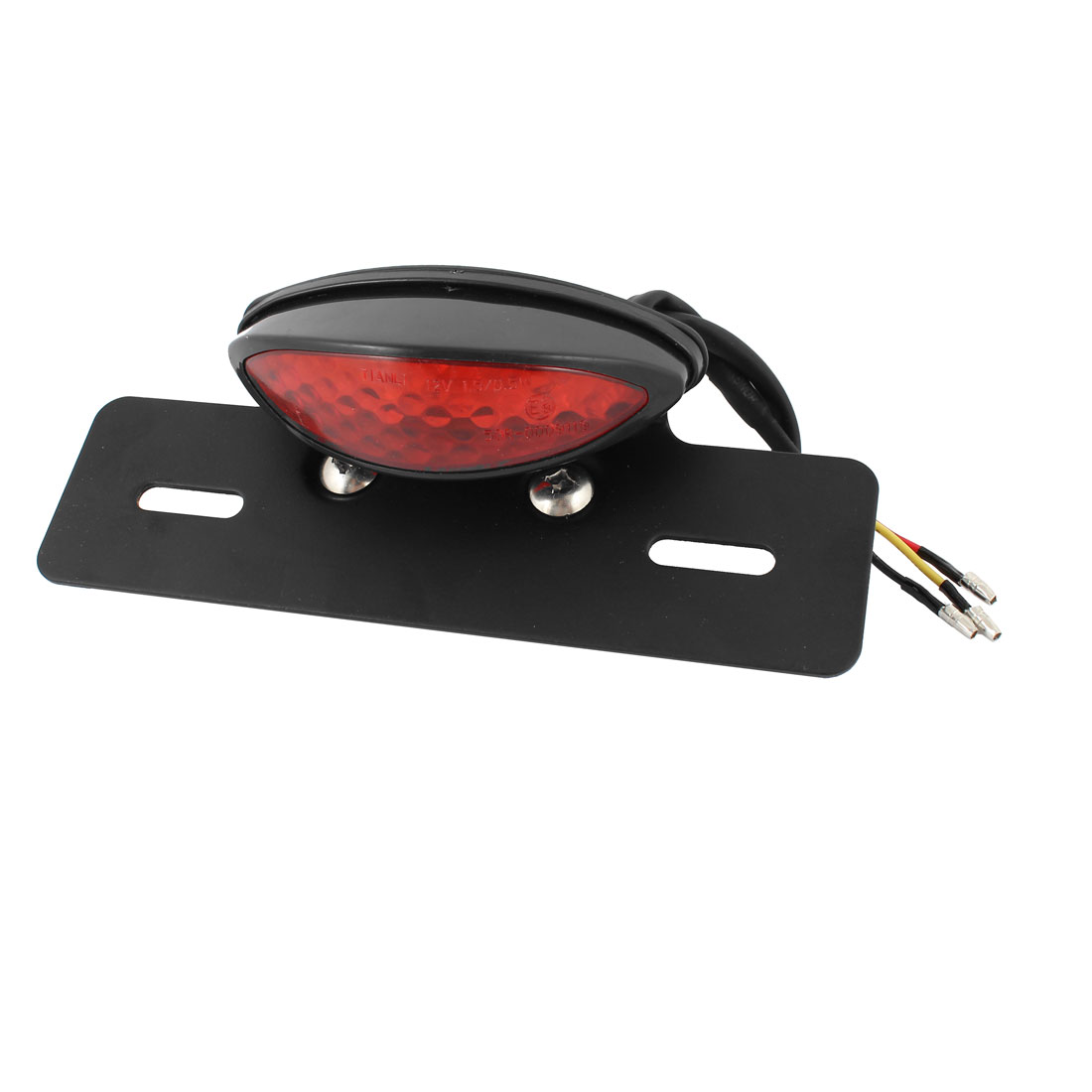 Motorcycle DC 12V Red White 19 LED Tail Light Custom License Plate Holder