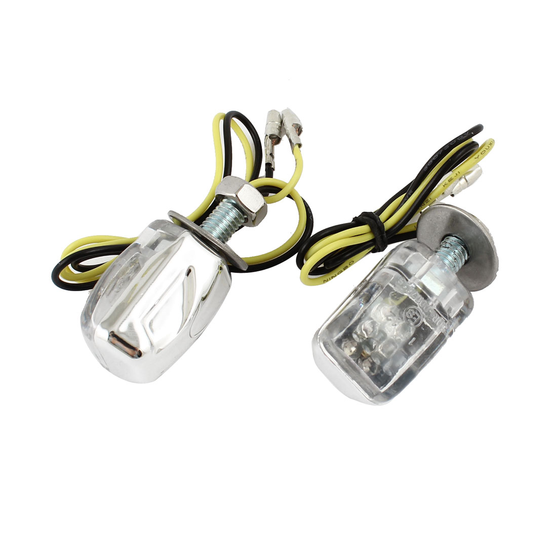 2 Pcs DC 12V Amber 6 LED 6mm Bolt Dia Turn Signal Light Indicator Lamps for Motorcycle