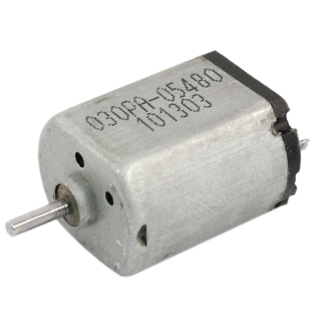 DC 1.5-9V 3200 RPM 2 Pin Cylindrical Magnet Micro Motor Silver Tone